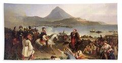 Meeting Between General Nicolas Joseph Maison 1771-1840 And Ibrahim Pasha 1789-1848 At Navarino Bath Towel