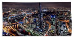 Melbourne At Night IIi Hand Towel
