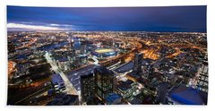 Melbourne At Night Hand Towel