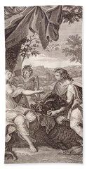 Meleager Presents The Boar's Head To Atalanta Bath Towel