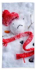Melted Snowman Hand Towel