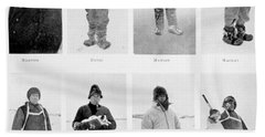 Members Of The British Antarctic Expedition At The Start Of The Journey Bath Towel