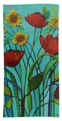 Memories Of The Meadow Bath Towel by Mary Wolf