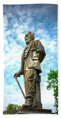 Memphis Elmwood Cemetery - Man With Cane Hand Towel