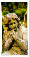 Memphis Elmwood Cemetery - Praying Angel Bath Towel