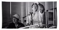 Men At Work Hand Towel by Wallaroo Images