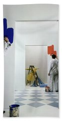 Men Painting Walls Bath Towel