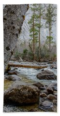 Merced River From Happy Isles Hand Towel