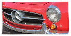 Bath Towel featuring the photograph Mercedes Benz Vintage by The Art of Alice Terrill