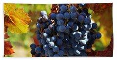 Merlot Wine Grapes  Hand Towel