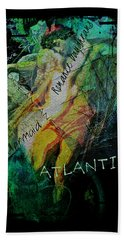 Bath Towel featuring the digital art Mermaid Love Spell by Absinthe Art By Michelle LeAnn Scott