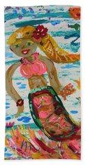 Bath Towel featuring the painting Mermaid Mermaid by Mary Carol Williams