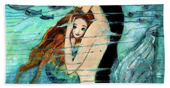 Mermaid Mother And Child Bath Towel
