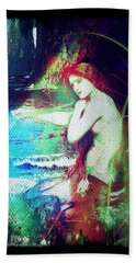 Bath Towel featuring the digital art Mermaid Of The Tides by Absinthe Art By Michelle LeAnn Scott