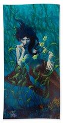 Mermaid Hand Towel by Rob Corsetti