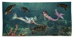 Mermaids At Turtle Springs Hand Towel