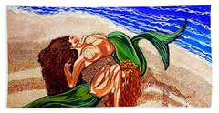 Bath Towel featuring the painting Mermaids Spent Jackie Carpenter by Jackie Carpenter
