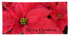 Christmas Poinsettia Hand Towel by William Tanneberger