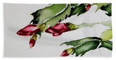 Merry Christmas Cactus 2013 Bath Towel