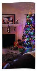Hand Towel featuring the photograph Merry Christmas From My Home To Yours by Trish Mistric