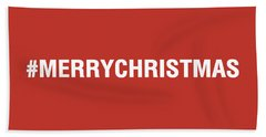 Merry Christmas Hashtag Hand Towel