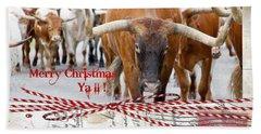 Longhorns Merry Christmas Ya'll Hand Towel