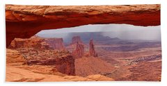 Hand Towel featuring the photograph Mesa Arch In Canyonlands National Park by Mitchell R Grosky