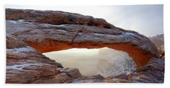 Bath Towel featuring the photograph Mesa Arch Looking North by David Andersen