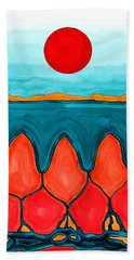 Mesa Canyon Rio Original Painting Bath Towel