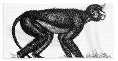 Mesopithecus, Old World Monkey Bath Towel