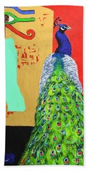 Hand Towel featuring the painting Messages by Ana Maria Edulescu