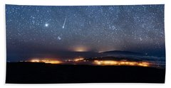 Meteor Over The Big Island Bath Towel