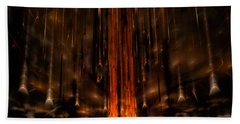 Meteors Hand Towel by GJ Blackman