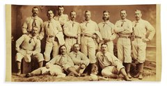 Metropolitan Baseball Nine Team In 1882 Hand Towel