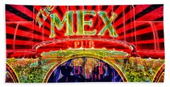 Bath Towel featuring the digital art Mex Party by Richard Farrington