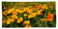 Mexican Poppies Bath Towel