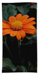 Bath Towel featuring the photograph Mexican Sunflower by James C Thomas