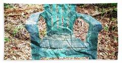 Mi Silla De Papel  Hand Towel by Carlos Avila