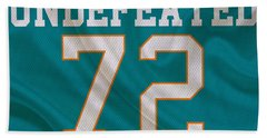 Miami Dolphins Undefeated Season Hand Towel
