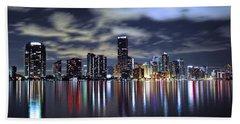Miami Skyline Bath Towel
