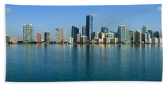 Miami Skyline Bath Towel