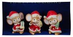 Mice Holiday Hand Towel