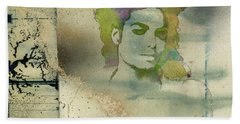 Michael Jackson Silhouette Hand Towel by Paulette B Wright