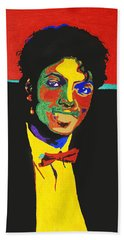 Michael Jackson Bath Towel by Stormm Bradshaw