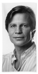 Hand Towel featuring the photograph Michael York by Mark Greenberg