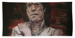 Mick Jagger - Street Fighting Man Bath Towel