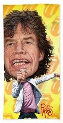 Mick Jagger Hand Towel