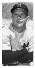 Mickey Mantle Hand Towel