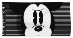 Mickey Mouse Disney Mug Shot Hand Towel