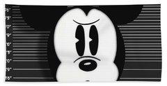 Mickey Mouse Disney Mug Shot Bath Towel by Tony Rubino